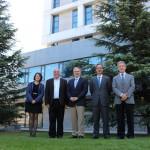 Oficina Técnica, Consejo Asesor Internacional y C. Ejecutivo del CEI. Mar Gómez, Celio Cavalcante, Alfredo Aguilar, Felipe Fernández y Guillermo Calleja. Abril de 2015.