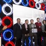 Entrega de Premio INNOSMART al proyecto Vardian.  Federico Morán, responsables de proyecto de la empresa Sensowave y Mar Gómez.