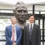 Participación del CEI en la Visita de la Universidad de Changan a la URJC. Vicerrector Juan Antonio Melero y Director Dai Hong. Julio de 2015.