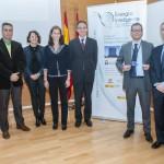 Presentación en la URJC de la Tercera Convocatoria INSPIRE. Antonio Abellan, Mar Gómez, Pilar Lafuente, Félix Marín, Juan Antonio Melero, Bernardo del Amo