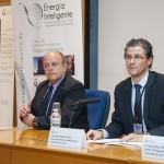 """Curso URJC """"Smart Cities"""".Vicerrector Juan Antonio Melero y Director del Curso Julio Ramiro Bargueño. Noviembre 2014."""