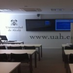 Inauguración de las Aulas de Teledocencia del CEI. Detalle del aula de la UAH. Abril de 2015.
