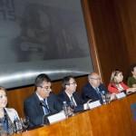Participación del CEI en la Conferencia Red Otri. Primer Plano: Vicerrectora Maria Luisa Marína y Secretario General de Universidades: Juan María Vazquez; Fernanado Galván Reula. Junio 2015.