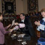 Entrega Institucional UAH de los Premios CEI 2016. Rector F. Galvan, Vicerrectora M.L. Marina y Prof. B. Barroeta.