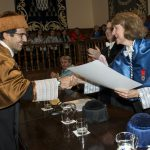 Entrega Institucional UAH de los Premios CEI 2016. Rector F. Galvan, Vicerrectora M.L. Marina y Prof. A. Gardel.