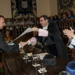 Entrega Institucional UAH de los Premios CEI 2016. Rector F. Galvan, Vicerrectora M.L. Marina y Prof. S. Salcedo.